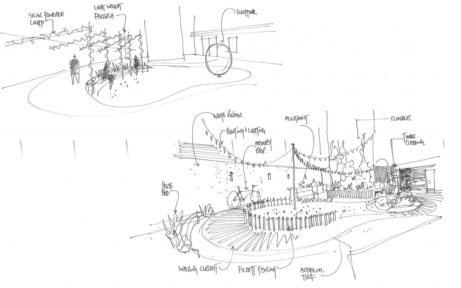 Salford Royal Hospital concept sketch