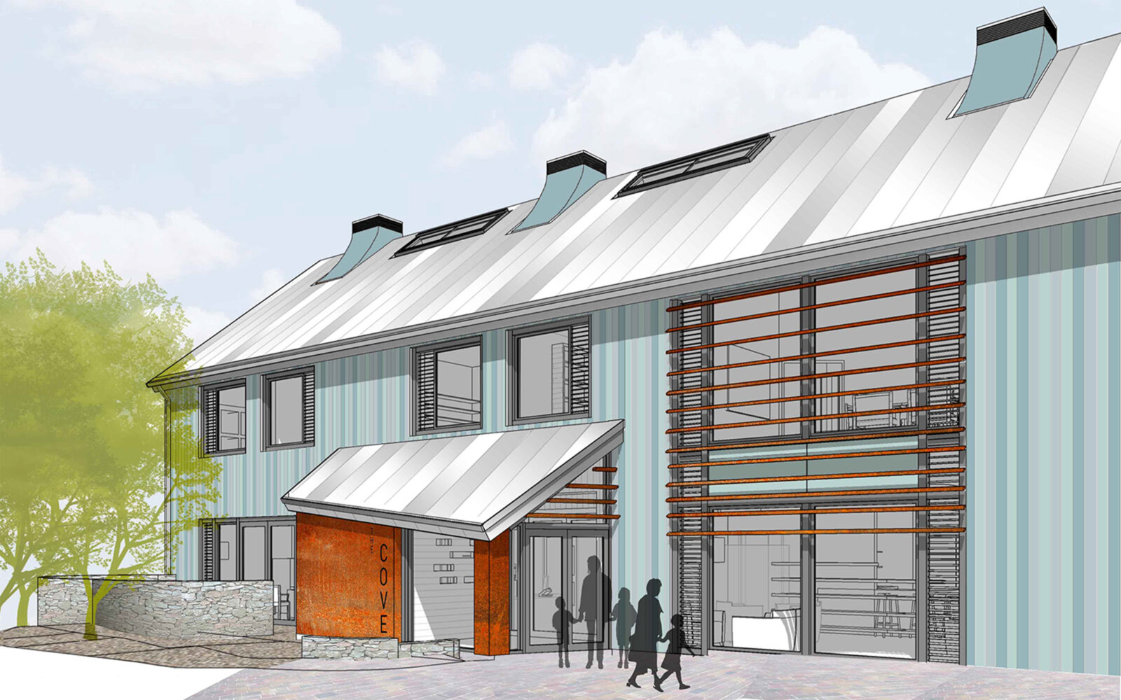 The Cove Macmillan Cancer Support Centre exterior sketch