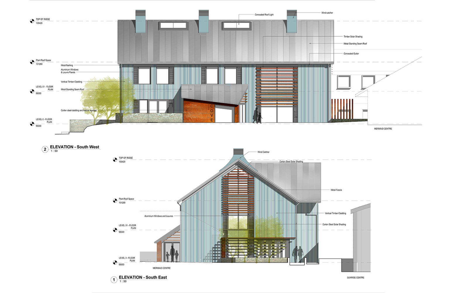 The Cove Macmillan Cancer Support Centre elevations