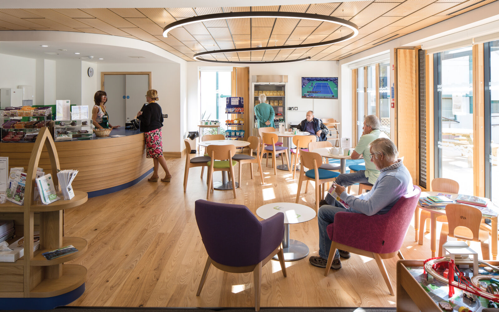 The Cove Macmillan Cancer Support Centre waiting area
