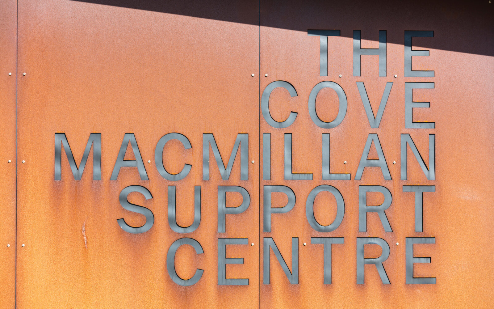 The Cove Macmillan Cancer Support Centre signage