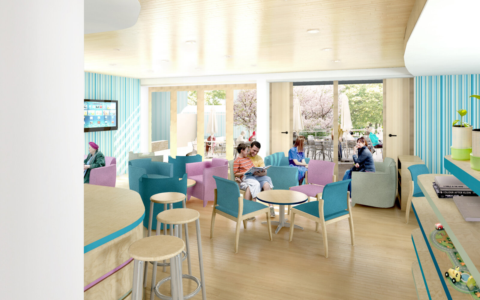 The Cove Macmillan Cancer Support Centre waiting area CGI